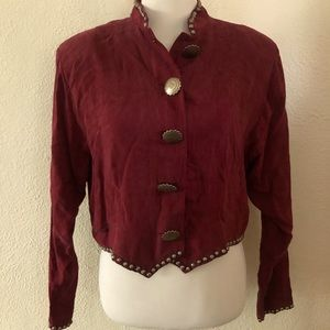 Miller Stockman Western Cowgirl Blouse Shirt: L